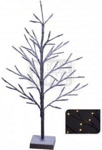 Светещо кафяво коледно дърво 60 см