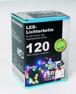 Коледни цветни LED лампички с адаптер 12 м