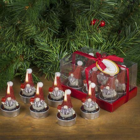 Коледни свещи джуджета 6 броя