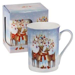 Порцеланова чаша Коледни еленчета MUG