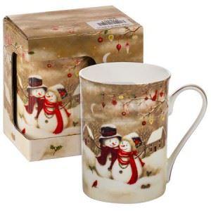 Порцеланова чаша Снежни човечета MUG