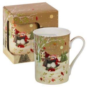 Порцеланова чаша Коледен MUG пингвини