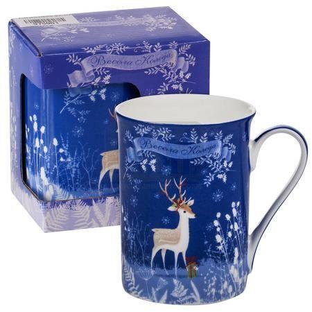 Порцеланова чаша Коледно еленче MUG