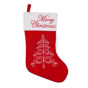 Коледен чорап с елха 25 х 36 см