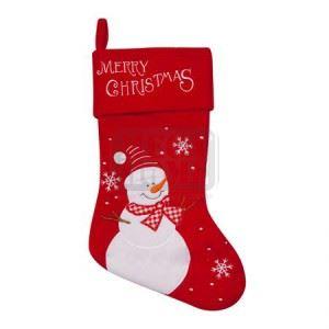 Коледен чорап със снежен човек 25 х 36 см