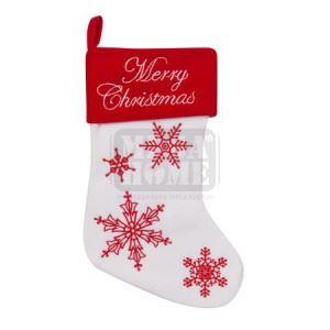 Коледен чорап със снежинки 25 х 36 см