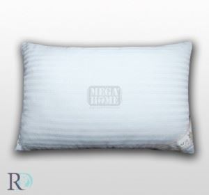 Възглавница от сатенирано райе бяло със силиконов пух на гранули