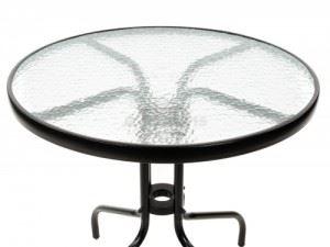 Градинска маса ф 70 см стъкло