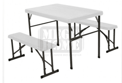 Сгъваема маса с пейки DeHome 105 х 65 х 72 см