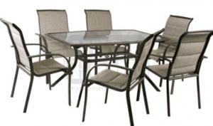 Градински комплект маса със 6 стола DeHome