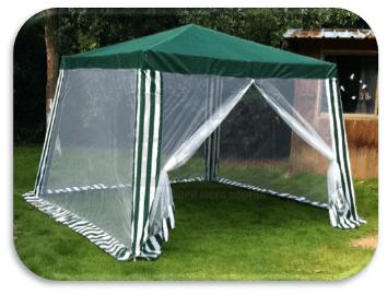 Градинска шатра с комарници 3 х 3 м