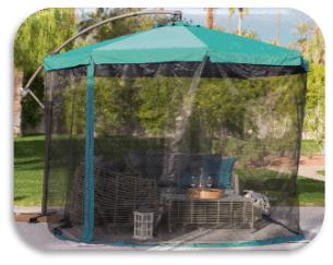 Чадър ф 3 м със стойка и комарник
