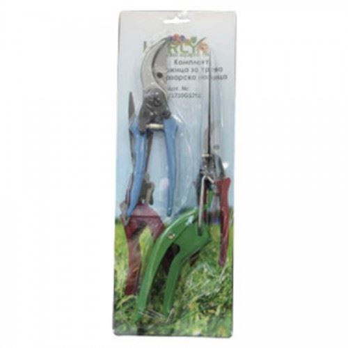 Промо комплект Ножица за трева и лозарска Helry