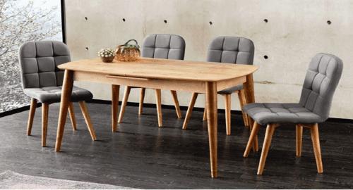 Комплект разтегателна маса и 4 стола Retro