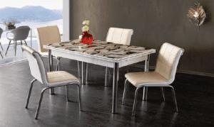 Комплект разтегателна маса и 4 стола Fense