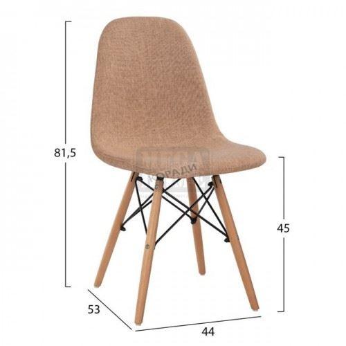 Стол Арт ууд текстил 44 x 53 x 81,5 см