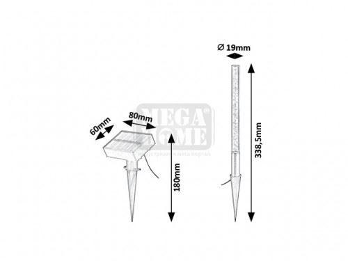 Соларни лампи 4 броя Lumini ф 19 мм
