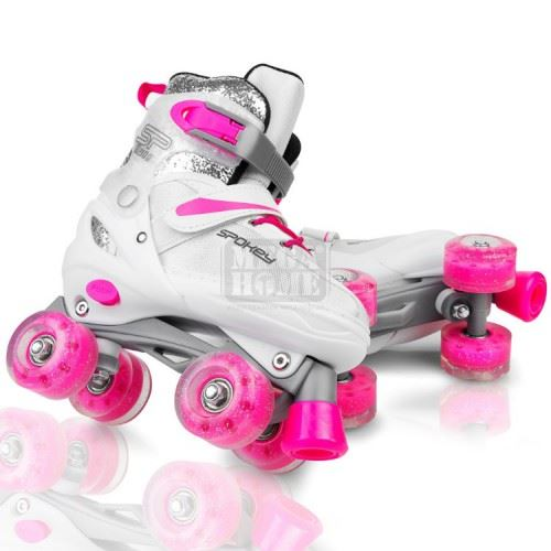 Ролкови кънки Buff White Pink Spokey