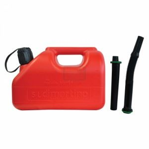 Туба за бензин пластмасова 5 л с 2 броя накрайници Bertani