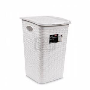 Кош за мръсно пране Elegance, бял, 50 L