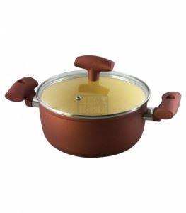 Тенджера за готвене ЕК-2412 С- червена със сиво