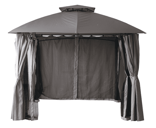 Градинска метална шатра WISDEN 3х3m ШАМПАНСКО/АНТРАЦИТ