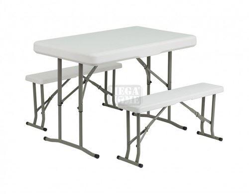 Градинска сгъваема маса с две пейки WR-CS018