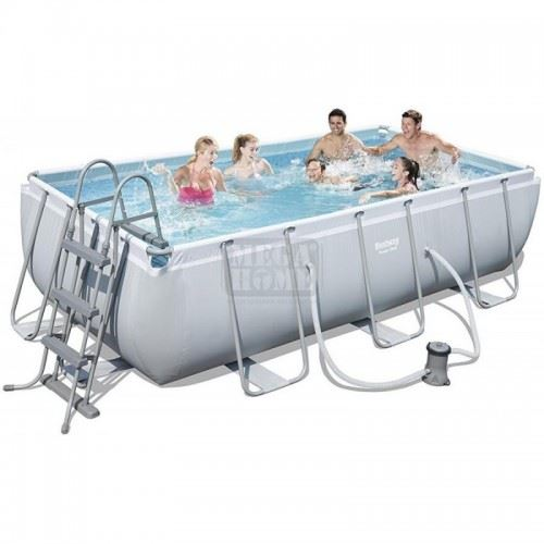 Голям басейн с метална конструкция 404x201x100см Bestway