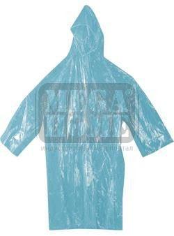 Дъждобран PVC 120 см с качулка - бял