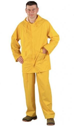 Дъждобран от PVC на Coverguard, костюм размер XXL, цвят жълт