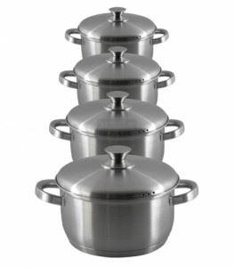 Комплект тенджери неръждаема стомана Елеком 4 броя