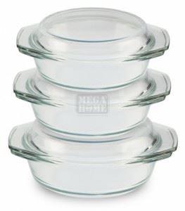 Комплект Огнеупорни съдове кръгли касероли Елеком