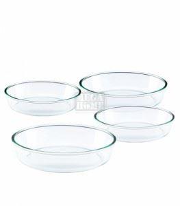 Комплект Огнеупорни тави кръгли 4 броя Елеком
