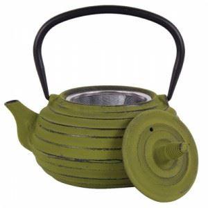 Чугунен чайник с цедка 700 мл LF зелен