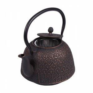 Чугунен чайник с цедка 1300 мл в сиво