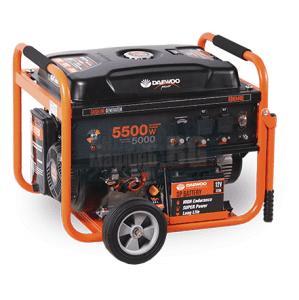 Бензинов трифазен генератор 5,5 kW DAEWOO GD6500E