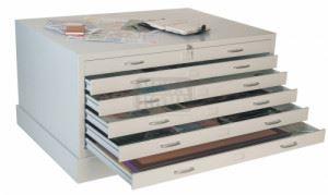 Шкаф за проекти с 6 чекмеджета