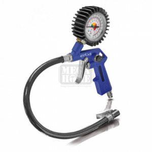 Уред за помпане на гуми с манометър ERBA