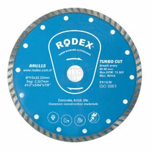 Диск диамантен турбо 230мм тип синтер Rodex