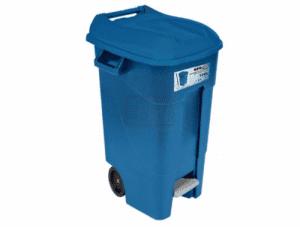 Kош за боклук с педал и колела 120 L