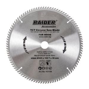 Диск за циркуляр за дърво Raider Ø305x100Tx30mm