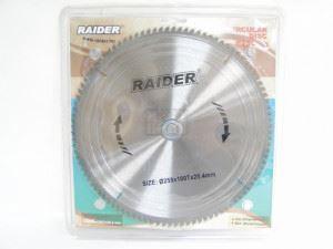 Диск за циркуляр Raider 255х100Тх25.4mm за алуминий