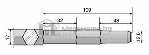 Шило с 6-стен опашка 17 х 450мм