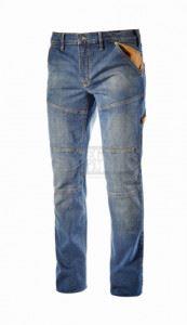 Деним панталони с подсилени колена STONE PLUS Diadora