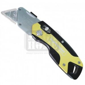 Нож макетен сгъваем алумниев с 4 резеца Top Master