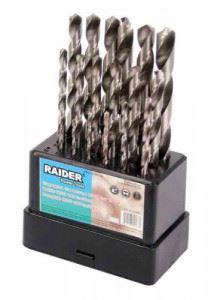Свредла за метал 19бр ø1.0-10mm HSS к-т Raider
