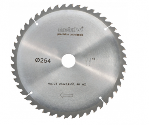 Диск за циркуляр Metabo 250х2.8х30.0mm 48 WZ 5°
