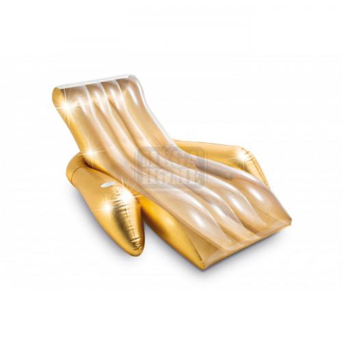 Надуваем шезлонг Intex Shimmering Gold 175 x 119 x 61 см