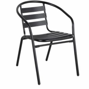 Стол с метална рамка в черен цвят