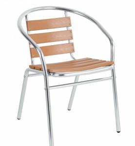 Стол от алуминий с дърво